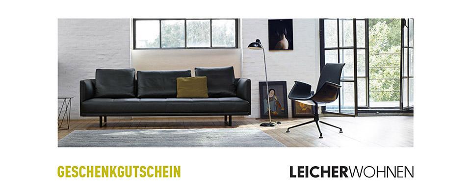 geschenkgutscheine leicher wohnen interl bke b b. Black Bedroom Furniture Sets. Home Design Ideas